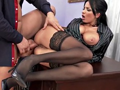 office trio babe cleansup cum after mff trio
