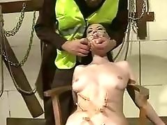 Submissive sluts get fucked while being tied up hard BDSM