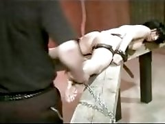 Poor girl tied up and rimmed by master BDSM porn