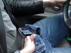 Amateur Gets Him In The Mood While Driving So He Just Has To