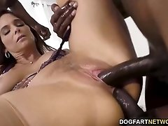Wild milf, Syren De Mer is impatient to have gang hook-up with ultra-kinky dark-hued dudes