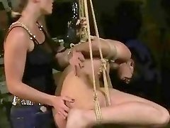 Sexy bondage slave and her mistress fuck like crazy BDSM