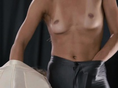 Huge dildo in their hands trying first girlsongirls sex