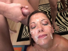 BrutalClips  Countless cocks drown Alicia in jizz