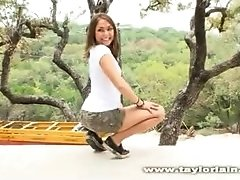 Taylor Lain naked outdoors