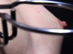 Hardcore mounds torment and ass spanking for ballgagged slut