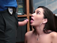 Sexy babe Karlee caught shoplifting and punished