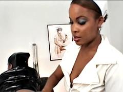 black nurse spanked