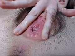 7:07 meaty pink pussy lips perfect body hula hoop