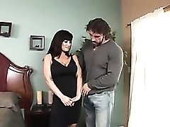 Lisa Ann tight black dress blowjob video