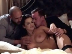 Keisha Grey fucks two massive cocks
