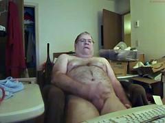Dad cum on cam