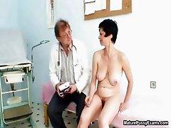 Horny mature mom gets a fully body exam part5