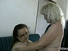 Two gorgeous lesbians mature gets horny