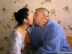 Bald horny dude is so insane licking part1