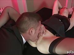 HarmonyVision Black and white slut fucking a huge cock