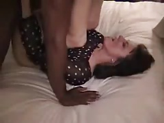 A beautiful wife takes a black cock missionary