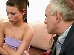 Old man fucks beautiful girl