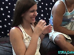 Real college party teens strip